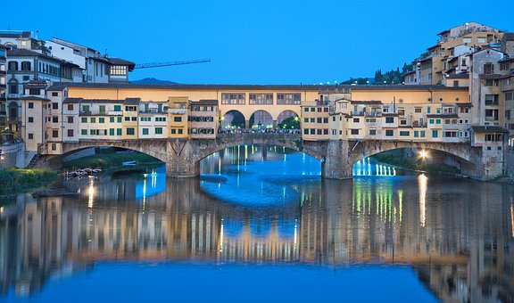 Waters, Travel, Architecture, Big City, River, Florence
