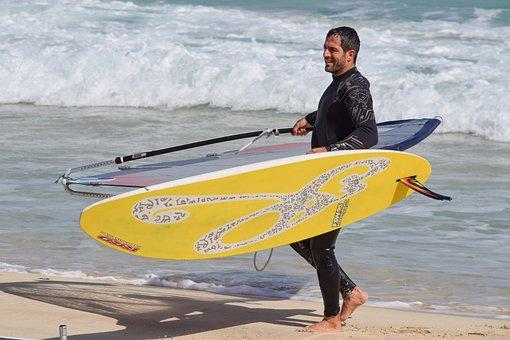 Surfer, Windsurfing, Water, Surf, Sea, Beach, Sport
