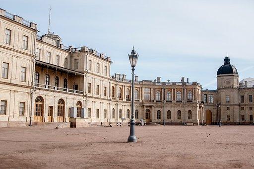 Architecture, Old, Building, Travel, Palace, Gatchina