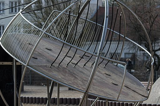 Steel, Game Space Scaffolding, Children's Playground