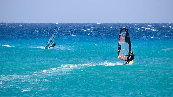 Windsurfing, Sport, Sea, Extreme, Surfing, Windsurfer