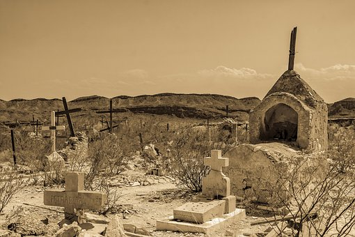 Ancient, Graveyard, Cemetery, Terlingua, Ghost Town