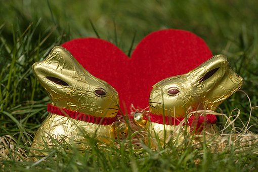 Hare, Easter Bunny, Easter, Figure, Chocolate, Love