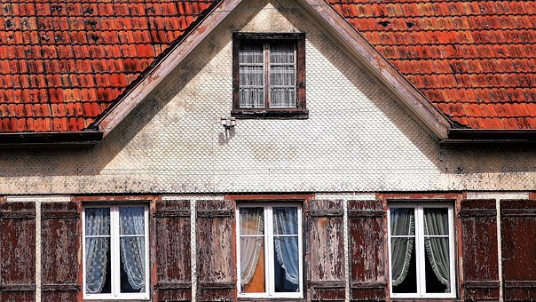 Old, The Structure Of The, The Window, Shutters, House