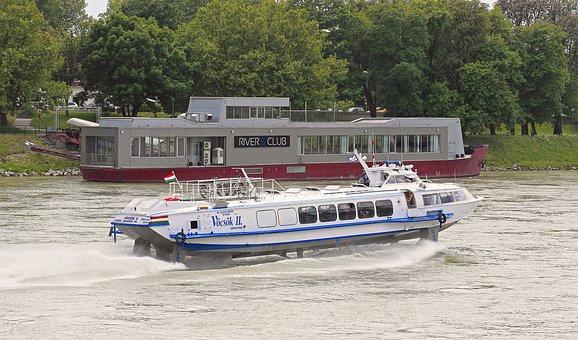 Hydrofoil, Hungarian, Danube, Current, Mountain Ride