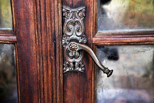 The Door, Door Handle, Rustic, Antique, Wooden, Old