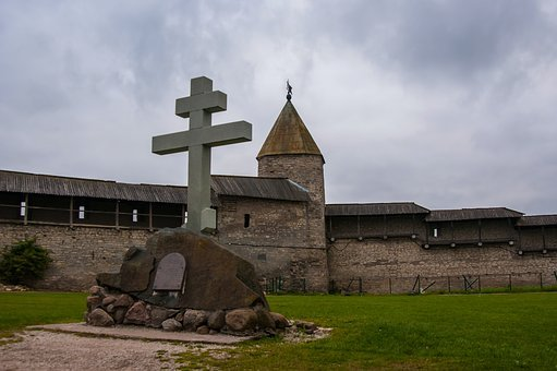 Religion, Architecture, Church, Old, Cemetery, Pskov