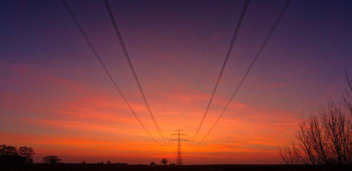 Sky, Sunset, Nature, Electricity, Dawn, Performance
