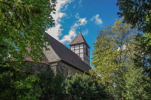 Steeple, Village Church, Tree, Wood, Sky, Nature
