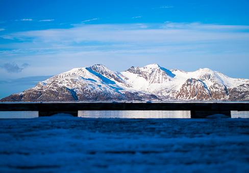 Snow, Ice, Mountain, Glacier, Waters, Norway, Fjords
