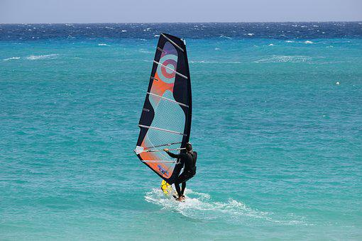 Windsurfing, Surfer, Surf, Water, Sea, Sport, Action