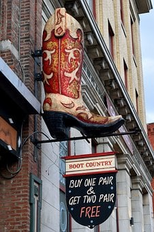Boots For Sale, Sign, Advertisement, Store, Shop