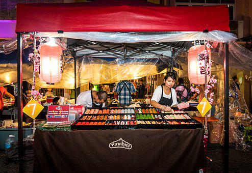 Phuket, Thailand, Asia, People, Market, Food Vendor