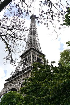 Architecture, Tower, Travel, Tall, Sky, Eiffel Tower