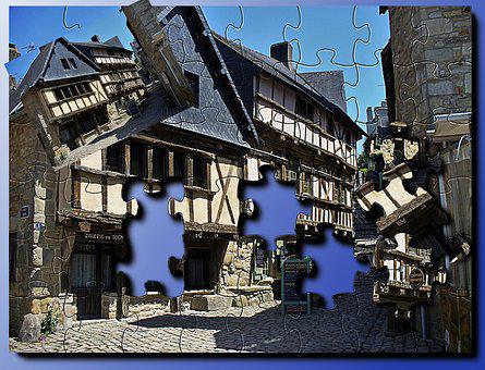 Architecture, Puzzle, France, Brittany, Old, Travel