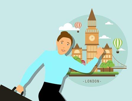 London Skyline, Traveler, Travel Woman, London City