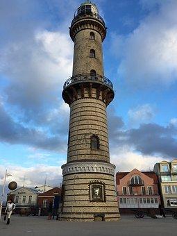 Lighthouse, Daymark, Warnemünde, Architecture, Tower