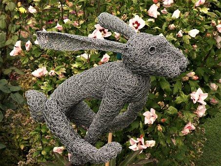 Nature, Outdoors, Garden, Animal, Tree, Wire Sculpture
