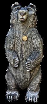 Bear, Holzfigur, Figure, Wood, Animal, Decoration