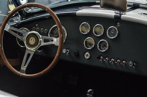 Auto, Cobra, Shelby, Dashboard, Steering Wheel, Wheel