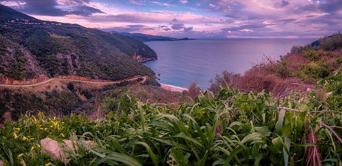 Cape, Sea, Peninsula, Bay, Greece, Island, Beach