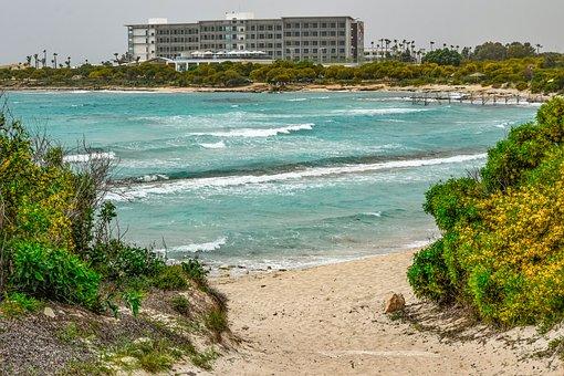 Cyprus, Ayia Napa, Lanta Beach, Beach, Sea, Seashore