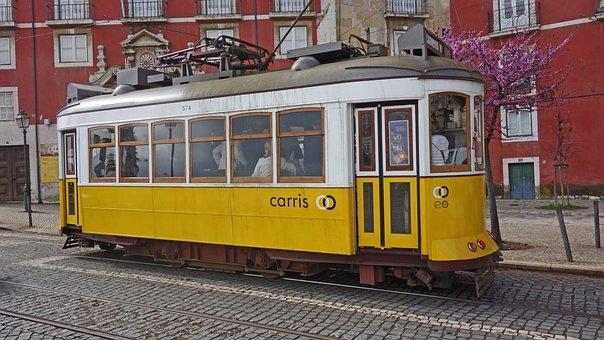 Tram, Lisbon, Cable Car, Public Transport, Travel
