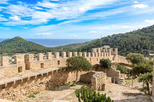 Mallorca, Capdepera, View From A Castle, City, Panorama