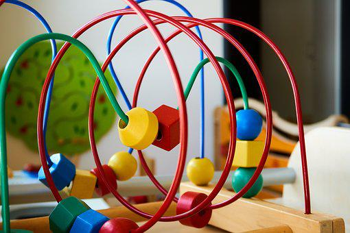 Motor Loop, Motor Skills Toy, Metal, Wood, Children