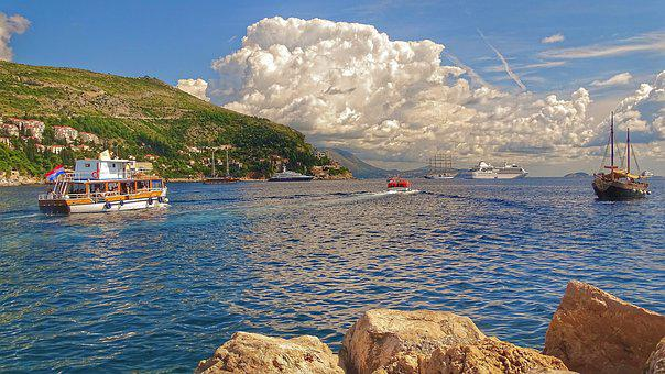 Waters, Travel, Nature, Sea, Coast, Croatia, Dubrovnik