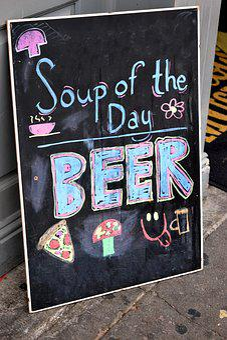 Display, Chalkboard, Sign, Business, Chalk, Restaurant