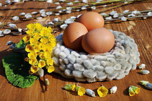 Easter Eggs, Egg, Eggshell, Brown, Easter Nest, Nest