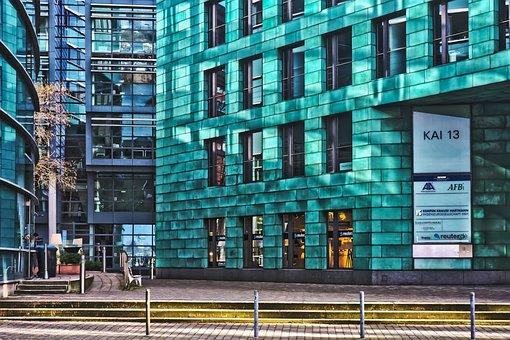 Architecture, Modern, Building, Facade, Düsseldorf