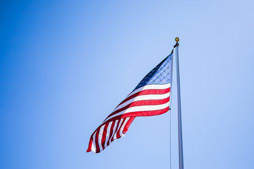 Wind, Flag, Sky, Patriotism, Outdoors, Freedom
