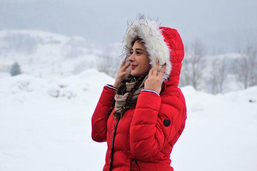 Winter, Snow, Cold, Christmas, Frost, Human, Portrait