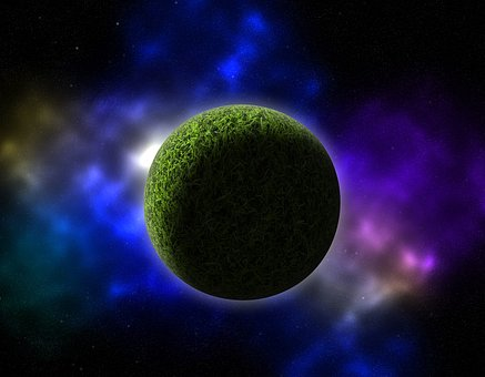 Astronomy, Planet, Moon, Science, Galaxy, Green, Grass