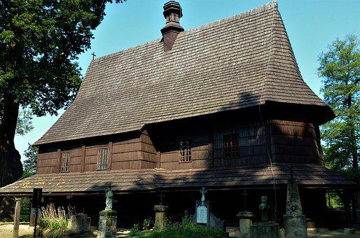 Architecture, Poland, House, Wood, Roof, Old, Church
