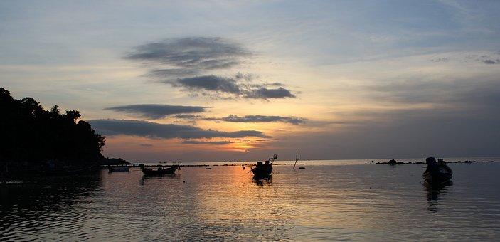 Sunset, Water, Dawn, Dusk, Sun, Sea, Nature, Landscape