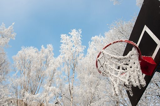 Winter, Snow, Coldly, Leann, Ice, Ring, Basketball