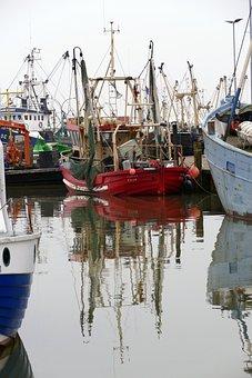 Sea, Port, Pier, Boats