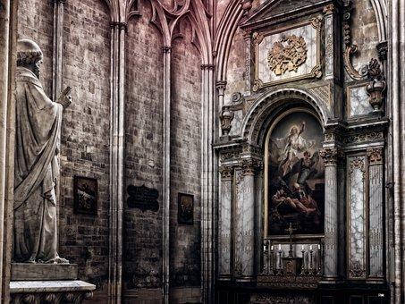 Altar, Church, Religion, Christianity, Building, Dom