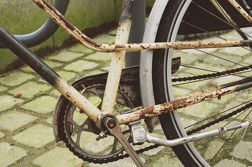 Wheel, No Person, Rusty, Bike, Detail, Repair, Painting