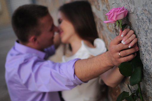 Love, People, Romance, Couple, Girl, Rose, Tenderness