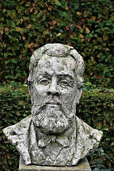Sculpture, Statue, Art, Old, Human, Portrait, Stone