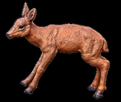 Roe Deer, Figure, Ceramic, Sculpture, Deco, Decoration