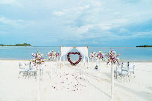 Beach, Wedding, Venue, Preparation, Sea, Ocean, Sand