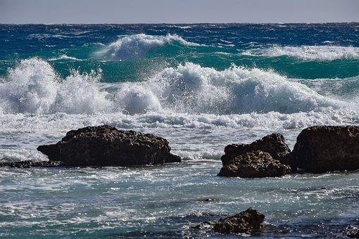 Wave, Crashing, Surf, Water, Sea, Ocean, Splash, Spray