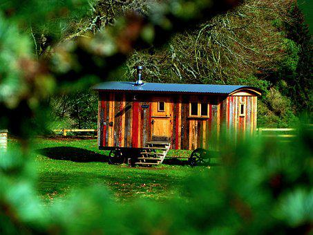 Wood, Tree, Outdoors, House, Nature, Shepherd Hut