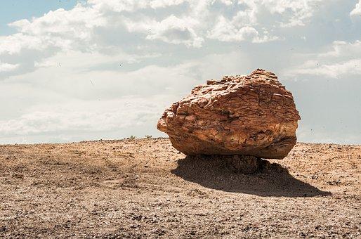 Rock, Nature, Sand, Sky, Stone, Petrified Forest