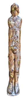 Sculpture, Holzfigur, Man, Totem, Mythology, Male